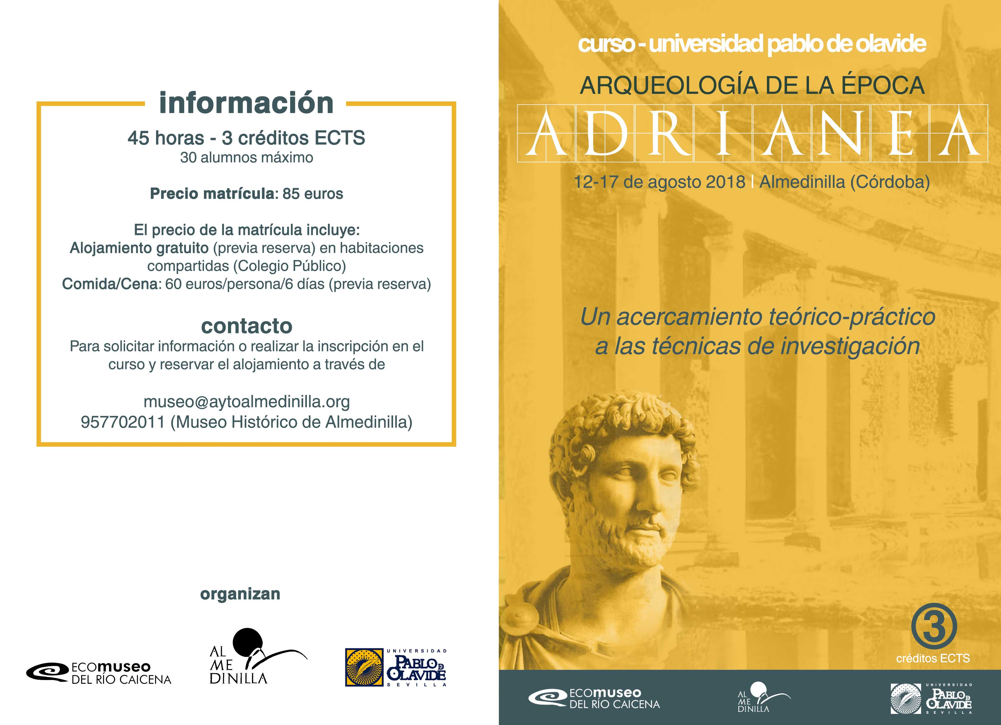 Programa Curso Arqueología Adrianea 1