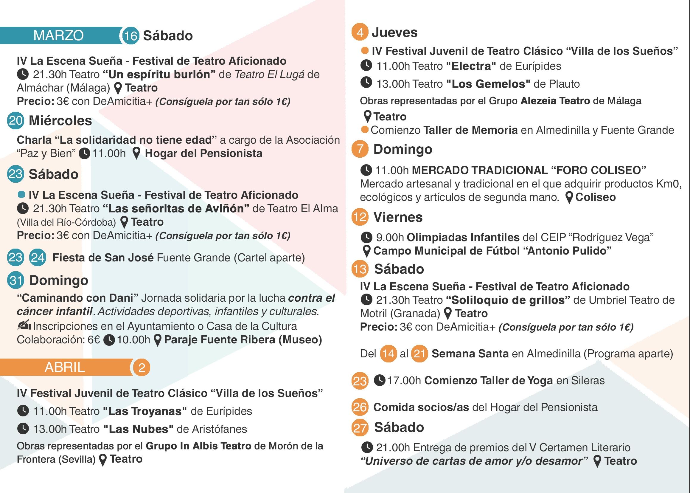 Agenda Primavera 2019-2