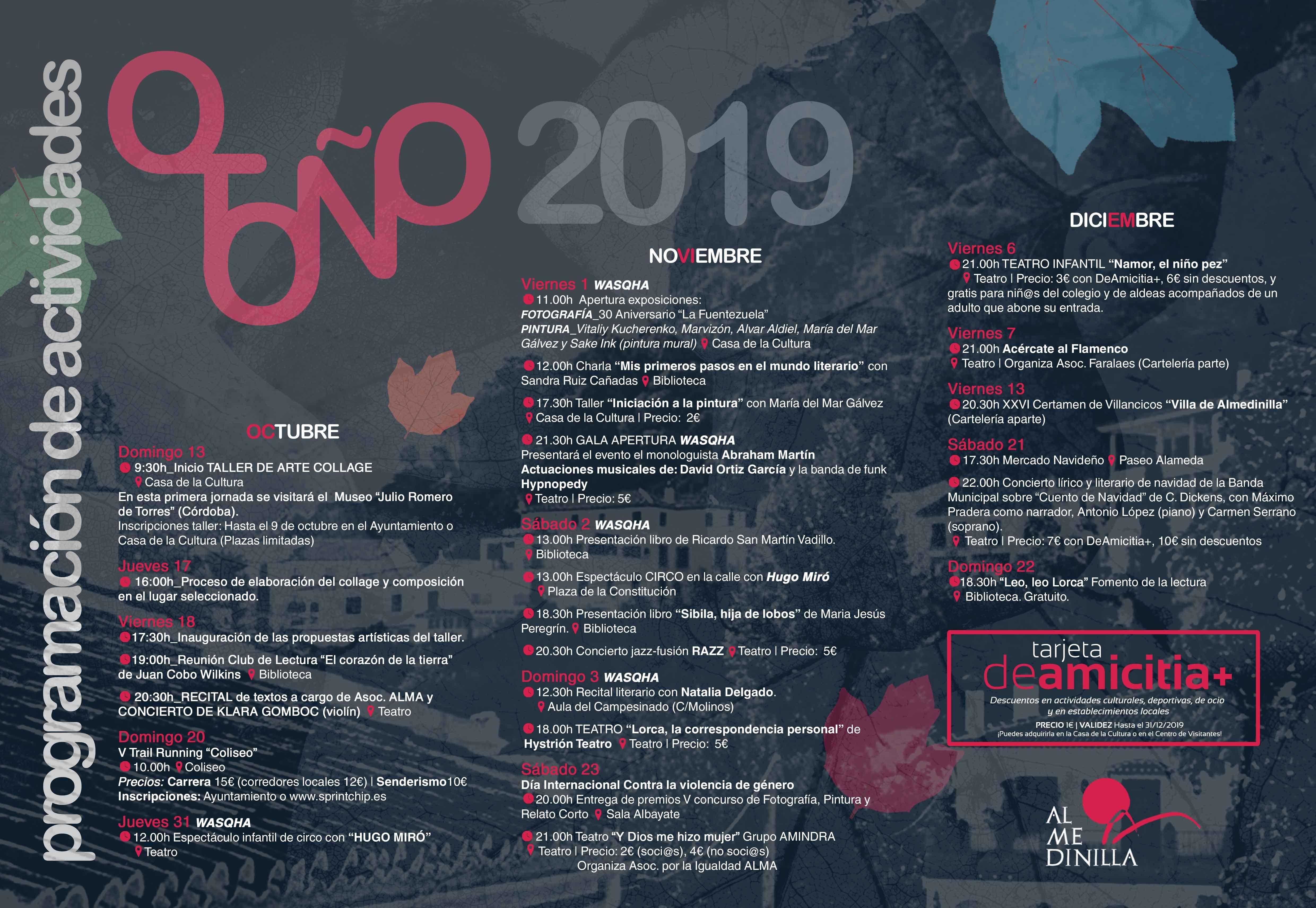 agenda otoño 2019