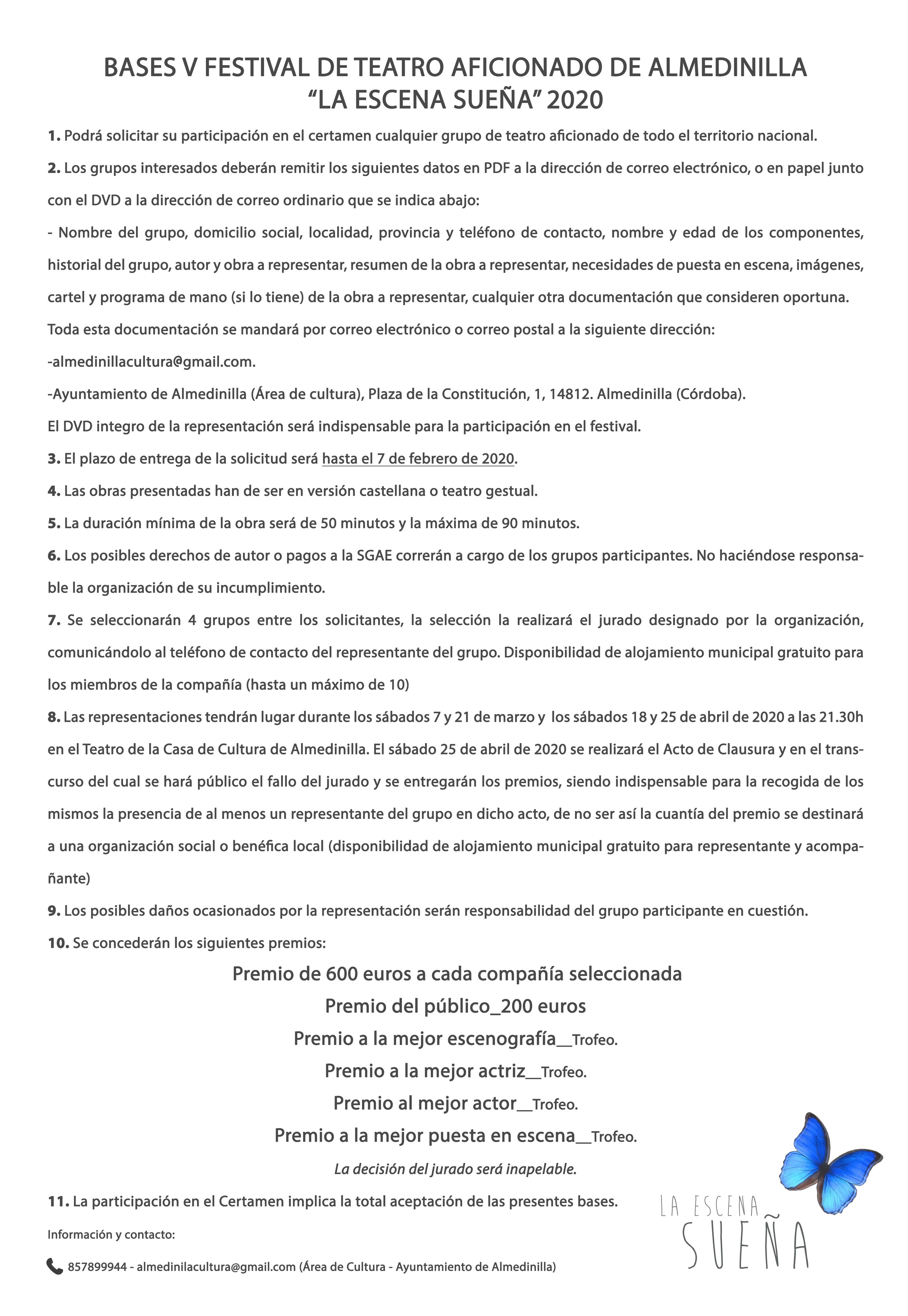 Bases La escena sueña Almedinilla 2020